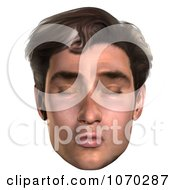 Clipart 3d Puckered Mans Face Royalty Free CGI Illustration