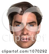 Clipart 3d Mean Mans Face 3 Royalty Free CGI Illustration