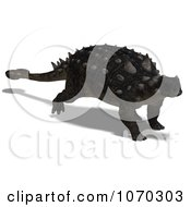 Clipart 3d Euoplocephalus Dinosaur 1 Royalty Free CGI Illustration