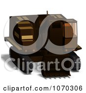 Clipart 3d Excavator 1 Royalty Free CGI Illustration