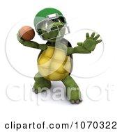 3d Tortoise Throwing A Football