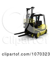 Clipart 3d Forklift Royalty Free CGI Illustration by KJ Pargeter