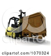 Clipart 3d Crate On A Forklift Royalty Free CGI Illustration by KJ Pargeter