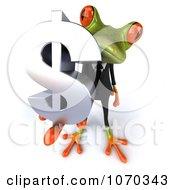Clipart 3d Business Springer Frog Holding A Dollar Symbol 3 Royalty Free CGI Illustration