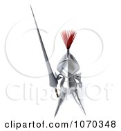 Clipart 3d Knight Looking Up Royalty Free CGI Illustration