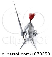 Clipart 3d Knight Gesturing To Stop 1 Royalty Free CGI Illustration