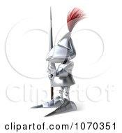 Clipart 3d Knight Gesturing To Stop 2 Royalty Free CGI Illustration