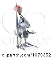Clipart 3d Knight Gesturing Royalty Free CGI Illustration