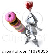 Clipart 3d Knight With Donuts On His Spear 1 Royalty Free CGI Illustration