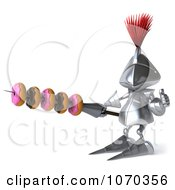 Clipart 3d Knight With Donuts On His Spear 2 Royalty Free CGI Illustration