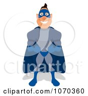 Clipart Blue Super Hero Royalty Free Illustration