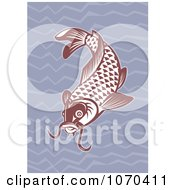 Clipart Red Carp Fish Royalty Free Vector Illustration by patrimonio