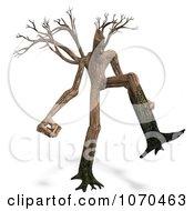 Clipart 3d Ent Tree Walking 3 Royalty Free CGI Illustration