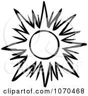 Black And White Sun 1
