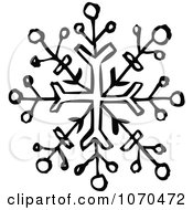 Clipart Black And White Snowflake Royalty Free Vector Illustration by NL shop