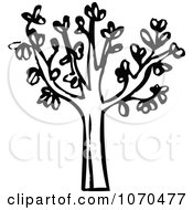 Clipart Black And White Tree Royalty Free Vector Illustration by NL shop
