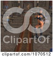 Clipart 3d Sexy Warrior Princess By A Throne Royalty Free CGI Illustration by Ralf61