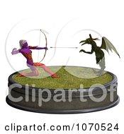 Clipart 3d Sexy Female Archer Elf 6 Royalty Free CGI Illustration