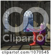 Clipart 3d Sexy Female Elf Sitting Royalty Free CGI Illustration