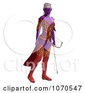 Clipart 3d Sexy Female Archer Elf 8 Royalty Free CGI Illustration