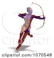 Clipart 3d Sexy Female Archer Elf 1 Royalty Free CGI Illustration