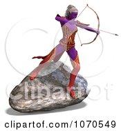 Clipart 3d Sexy Female Archer Elf 2 Royalty Free CGI Illustration