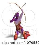 Clipart 3d Sexy Female Archer Elf 3 Royalty Free CGI Illustration