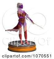 Clipart 3d Sexy Female Archer Elf 4 Royalty Free CGI Illustration
