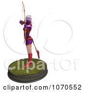Clipart 3d Sexy Female Archer Elf 5 Royalty Free CGI Illustration