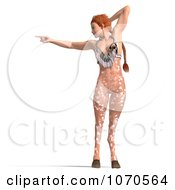 3d Sexy Faun Woman Pointing