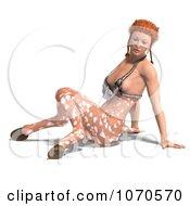 3d Sexy Faun Woman Sitting 2