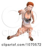 3d Sexy Faun Woman Running 3