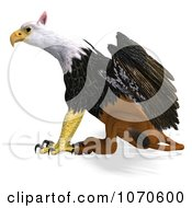 Clipart 3d Griffin Creature 4 Royalty Free CGI Illustration