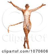 Clipart 3d Sexy Tiger Woman 1 Royalty Free CGI Illustration by Ralf61
