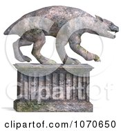 Clipart 3d Stone Gargoyle Statue 2 Royalty Free CGI Illustration by Ralf61