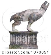 Clipart 3d Stone Gargoyle Statue 3 Royalty Free CGI Illustration by Ralf61