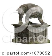 Clipart 3d Stone Gargoyle Statue 5 Royalty Free CGI Illustration by Ralf61