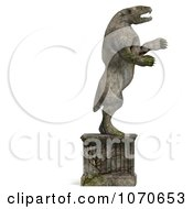 Clipart 3d Stone Gargoyle Statue 6 Royalty Free CGI Illustration by Ralf61