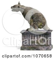 Clipart 3d Stone Gargoyle Statue 4 Royalty Free CGI Illustration by Ralf61