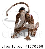 Clipart 3d Sexy Jaguar Woman 1 Royalty Free CGI Illustration