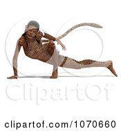 Clipart 3d Sexy Jaguar Woman 2 Royalty Free CGI Illustration