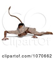 Clipart 3d Sexy Jaguar Woman 4 Royalty Free CGI Illustration