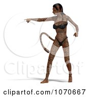 Clipart 3d Sexy Jaguar Woman 9 Royalty Free CGI Illustration