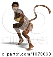 Clipart 3d Sexy Jaguar Woman 10 Royalty Free CGI Illustration
