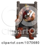 Clipart 3d Strong Medieval King Sitting On His Throne With A Pipe Royalty Free CGI Illustration by Ralf61