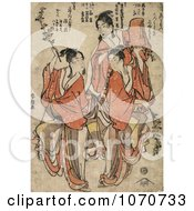 Three Asian Women Dancing