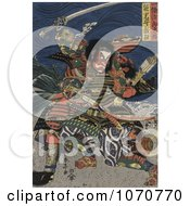 Royalty Free Historical Illustration Of The Samurai Warriors Ichijo Jiro Tadanori And Notonokami Noritsune by JVPD
