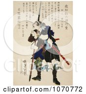 Royalty Free Historical Illustration Of A Ronin Samurai Leaning On A Long Handled Sword And Grimacing
