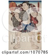 Royalty Free Historical Illustration Of The Sumo Wrestler Ichiriki