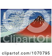 Royalty Free Historical Illustration Of Mount Fuji In Clear Weather Red Fuji By Katsushika Hokusai by JVPD #COLLC1070795-0002